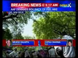 AAP protests against fuel price hike, slams Modi government