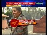 Ambika Soni and Kumari Selja refuse to vacate ministerial bungalows