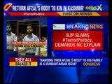 BJP slams National Conference demand to return Afzal Guru's remains