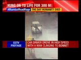 Mumbai: Road rage caught on cctv; man dragged on car bonnet for 300 meters
