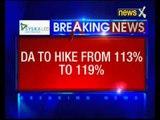 Cabinet to raise DA by 6  percent