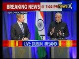 PM Narendra Modi and Irish PM at the Joint Press Statement in Dublin, Ireland