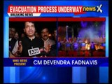 Make In India Fire: Maharashtra chief minister Devendra Fadnavis speaks to media
