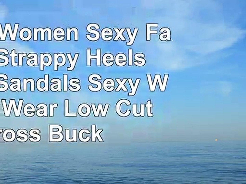 Hunzed Women Sexy Fashion Strappy Heels Pumps Sandals Sexy Wedding Wear Low Cut Cross