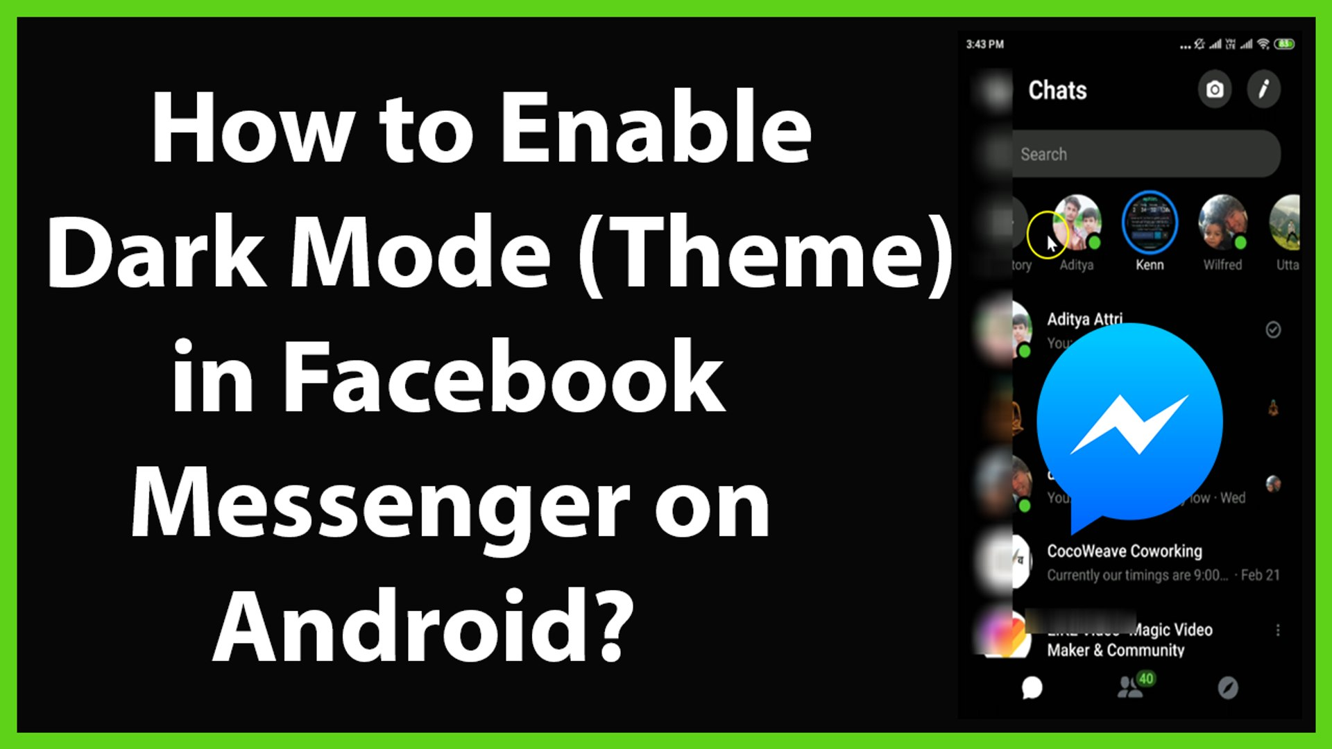 How to Enable Dark Mode(Theme) on Facebook Messenger on Android?