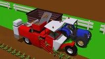 Big Tractor and Carottes Robot Machine   Videos for Kids》 Bleu de la Machine et le jeu de la carotte. Un conte de fées