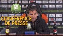 Conférence de presse FC Lorient - US Orléans (1-3) : Mickaël LANDREAU (FCL) - Didier OLLE-NICOLLE (USO) - 2018/2019