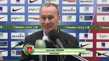 Réaction de Nicolas Usaï et Jean-Marc Furlan après Berrichonne Châteauroux - Stade Brestois 29