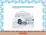 STB Kitchen Sink Stainless Steel Basket Strainer Drain Assembly