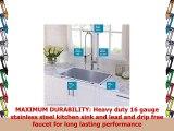 Kraus KHU10032165041SS 32 Combo with Handmade Undermount Single Bowl 16 Gauge Sink and
