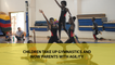 Children take up gymnastics and wow parents with agility