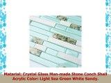 TST Aqua Marine Glass White Stone Tile Seashell Mother of Pearl Inlay Beach Style House