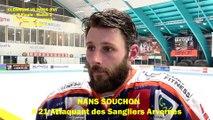 HOCKEY SUR GLACE 2019-03-02 Interview Nans Souchon, Attaquant des Sangliers Arvernes de Clermont-Ferrand