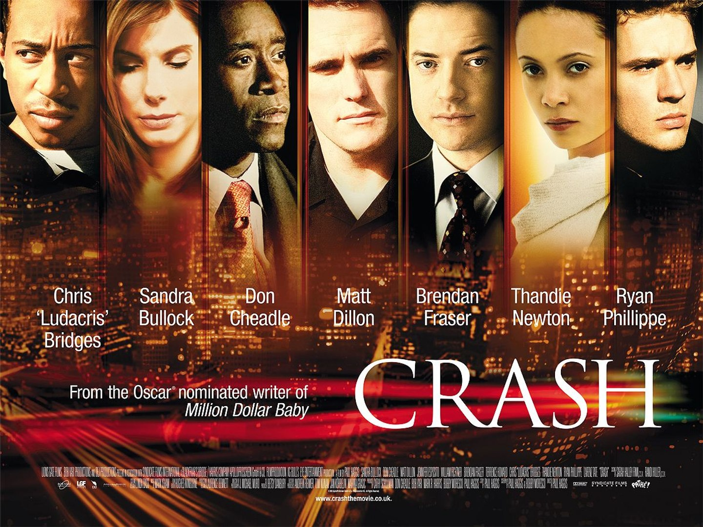 Crash Movie (2004) Sandra Bullock, Don Cheadle, Matt Dillon ...
