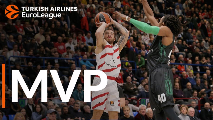 Turkish Airlines EuroLeague MVP for February: Mike James,  AX Armani Exchange Olimpia Milan