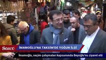 Ekrem İmamoğlu'na İstiklal Caddesi'nde yoğun ilgi
