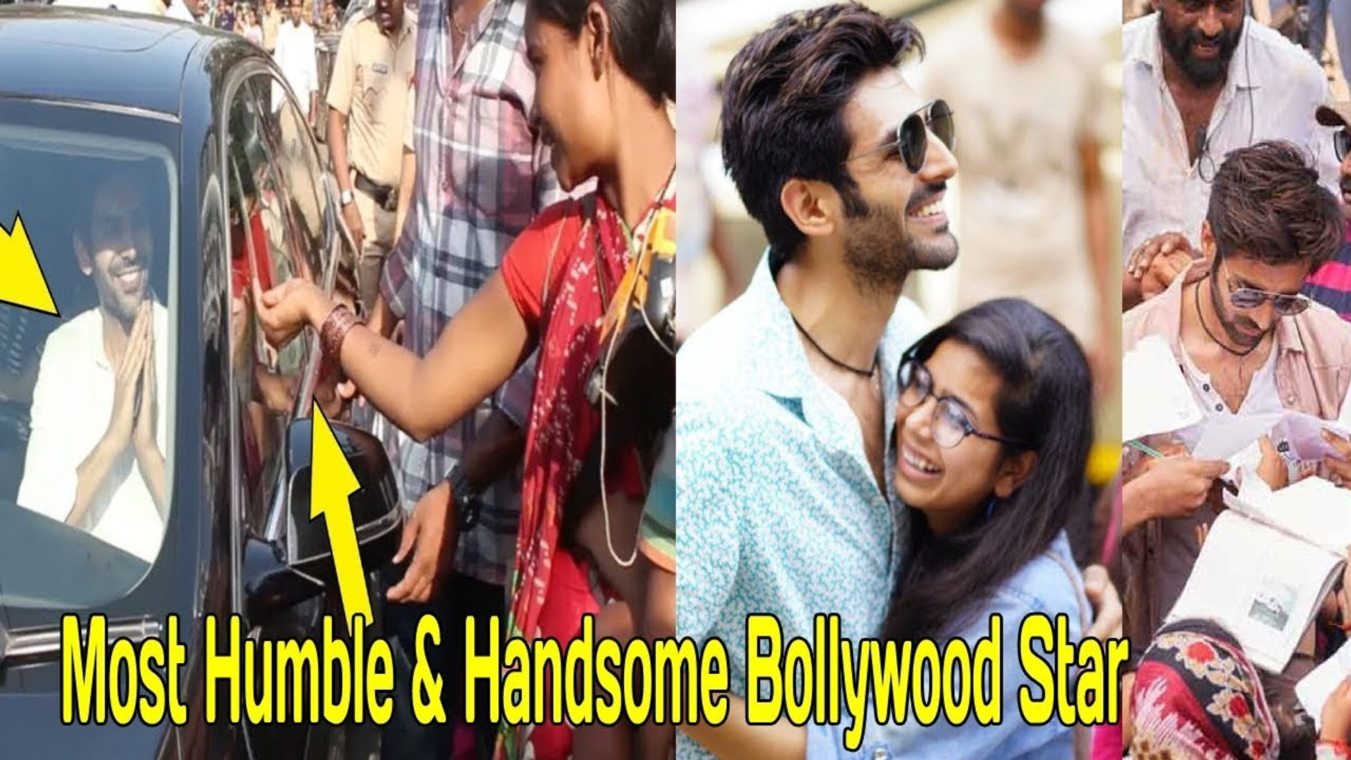 Most Humble & Handsome Bollywood Star Kartik Aryan shows AWESOME Gesture towards FANS & BEGG