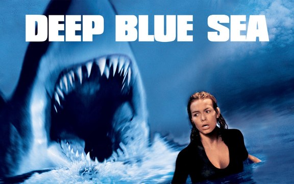 Deep Blue Sea Movie (1999) Saffron Burrows, Thomas Jane, Samuel L. Jackson, Michael Rapaport, LL Cool J