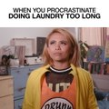 When You Procrastinate Doing Laundry Too Long