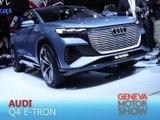 Audi Q4 e-tron en direct du salon de Genève 2019