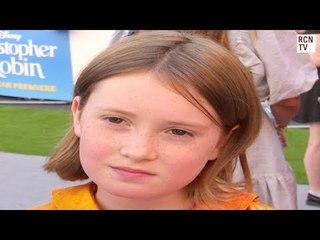 Bronte Carmichael Interview Christopher Robin Premiere