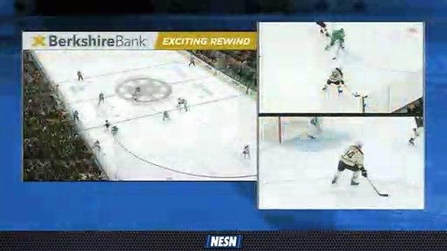 Brandon Carlo's Steal Helps Lead To Bruins Goal Vs. Hurricanes