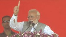 PM Modi; Opposition uniting to remove Modi; Modi is working to remove terrorism | Oneindia News