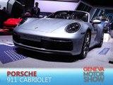 Porsche 911 Cabriolet en direct du salon de Genève 2019