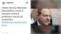 Affaire Harvey Weinstein. Une pétition circule à Harvard contre le professeur avocat du producteur