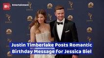 Justin Timberlake Shows Big Birthday Love For Jessica Biel
