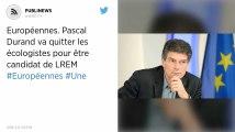 Européennes. Pascal Durand va quitter les écologistes pour être candidat de LREM