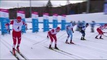 Ski cross-country winner disqualified for grabbing Russian teammates pole
