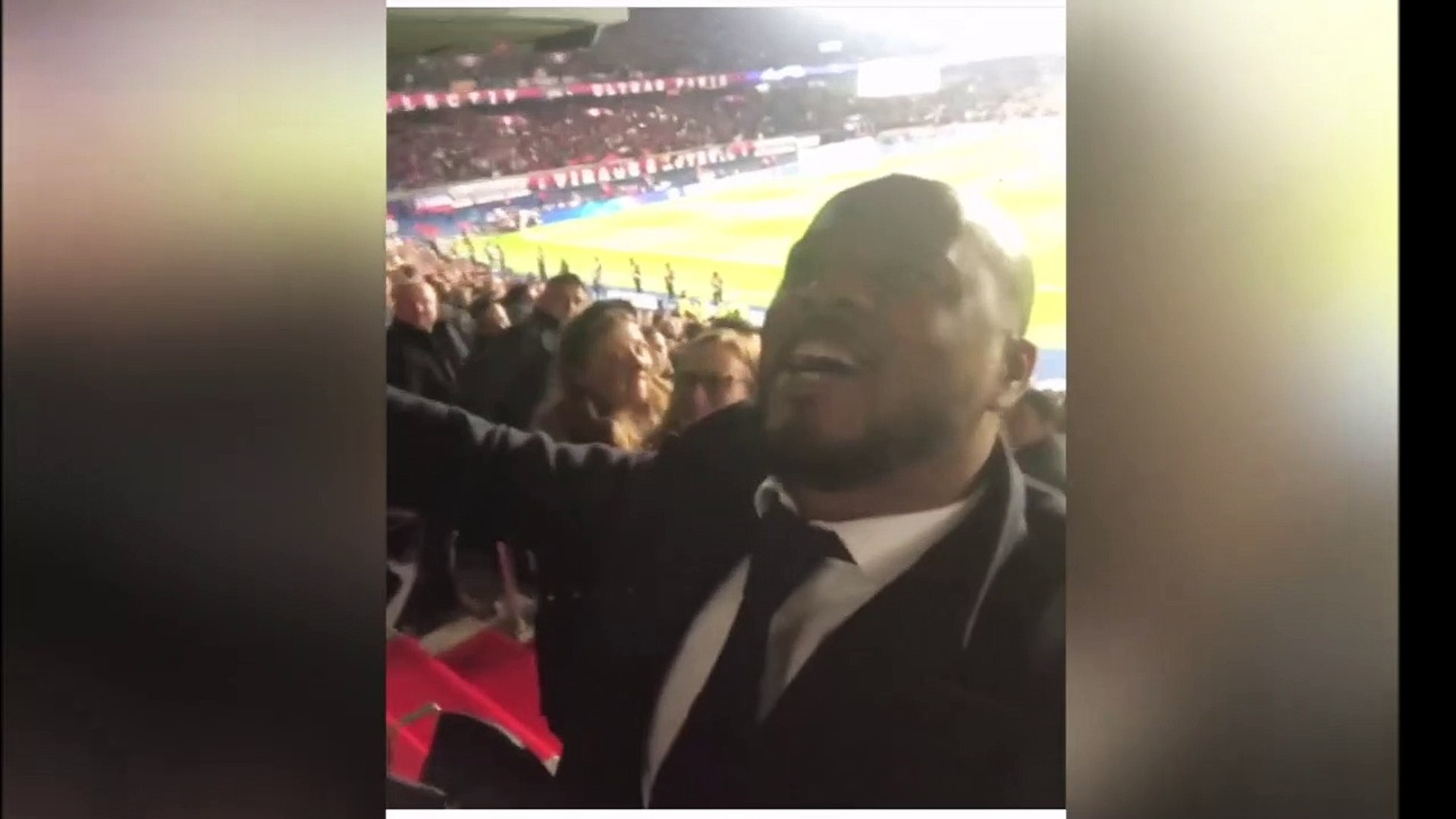 ICI C'EST MANCHESTER POGBA, CANTONA &  EVRA AMAZING REACTION IN THE STADIUM AT THE END OF P