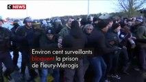 Une centaine de surveillants bloque la prison de Fleury-Mérogis après l'attaque de Condé-sur-Sarthe