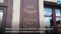 Arçais, dans les Deux-Sèvres,_plongé dans_les_années_40_pour une série