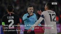 Bernard Tapie réagit au penalty qui a éliminé le PSG face à Manchester United