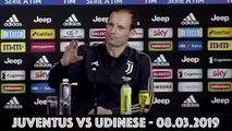 Conferenza Stampa ALLEGRI pre JUVENTUS vs UDINESE - Serie A 2018/2019