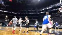 Les voyageurs Basket Infos profitent du parquet du Barclays Center