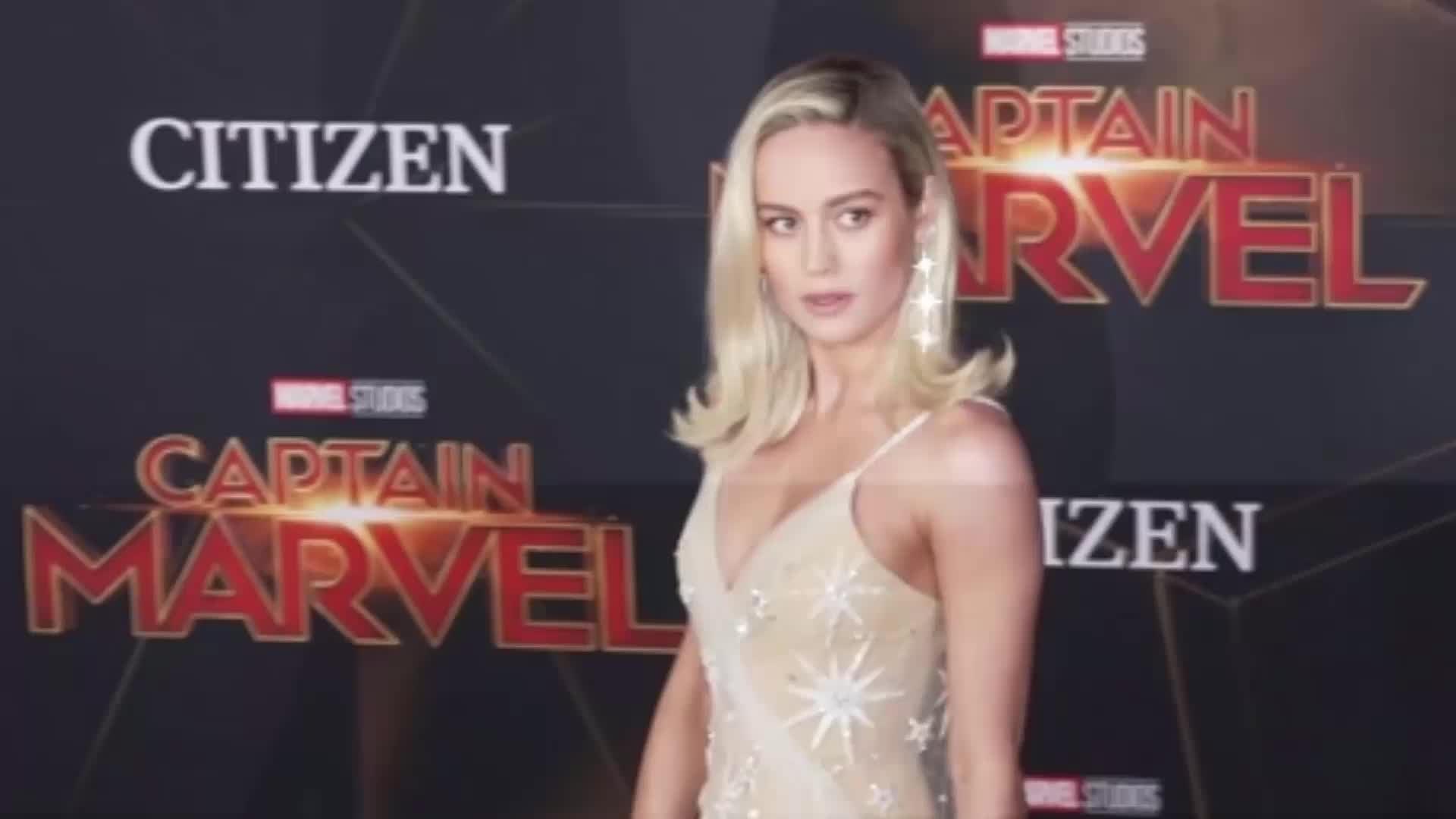 brie larson gets emotional at 'captain marvel' premiere