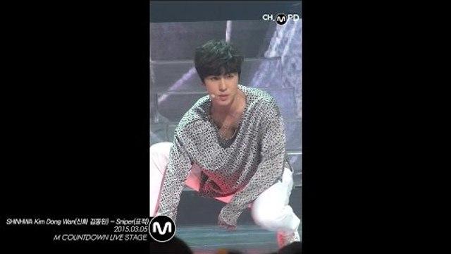 [MPD직캠] 신화 김동완 직캠 표적 Sniper SHINHWA Kim Dong Wan Fancam Mnet MCOUNTDOWN 150305