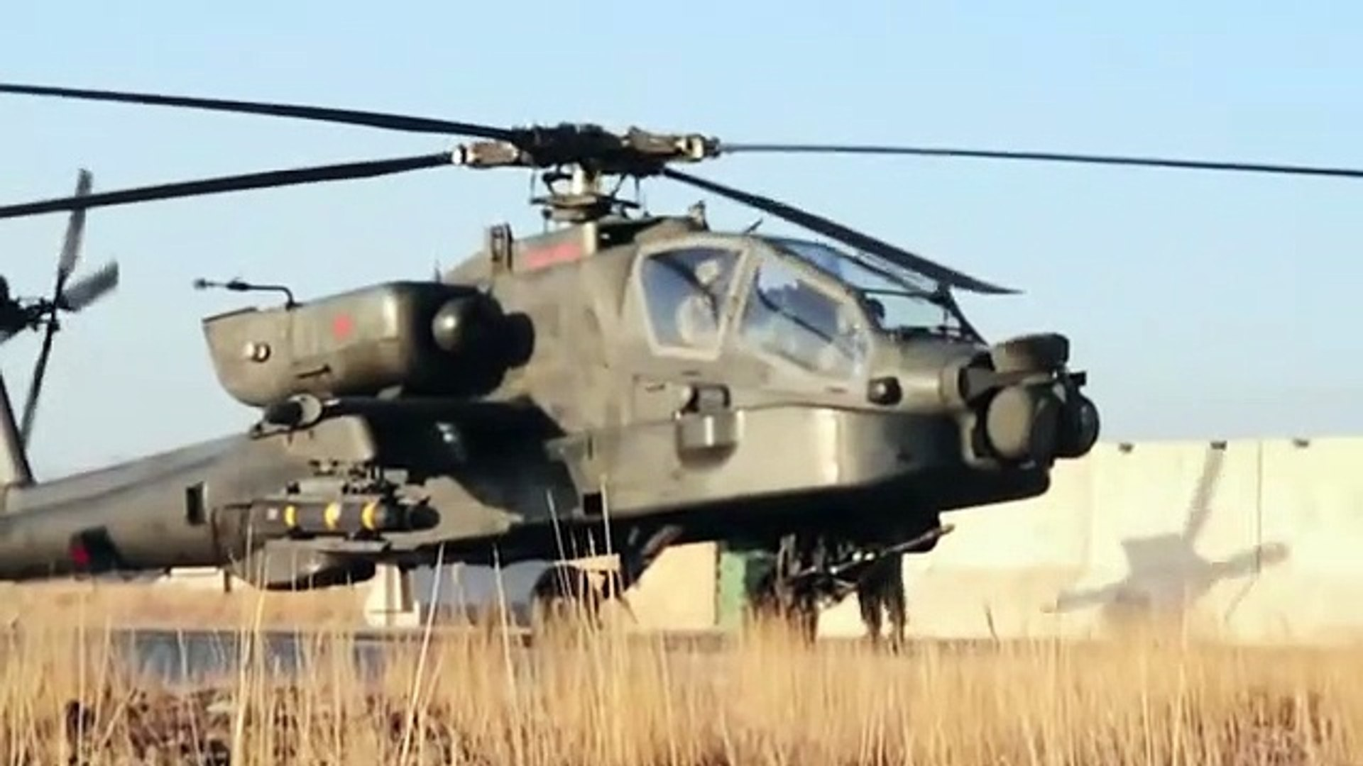 US – Apache Helicopters in Action Combat Footage Afghanistan