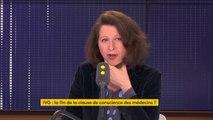 """IVG : """"J'ai une opinion très tranchée : je suis absolument contre la suppression de la clause de conscience"""" des médecins affirme la ministre de la Santé Agnès Buzyn, qui dit être contre """"pour le bien des femmes"""""""