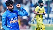India Vs Australia 3rd ODI: Kuldeep Yadav removes Aaron Finch, breaks 193-runs tand   वनइंडिया हिंदी