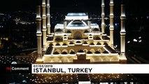 La plus grande mosquée de Turquie vient d'ouvrir ses portes à Istanbul