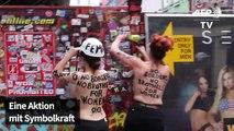 Femen zieht blank: Protest in Rotlichtviertel in Hamburg