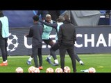 Manchester United Train At Parc Des Princes Ahead Of Match Against PSG In Champions League