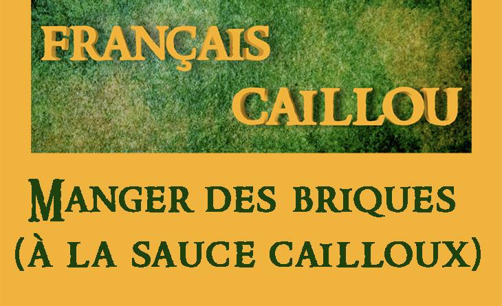 Français caillou / Définition du jour : Manger des briques (à la sauce cailloux)