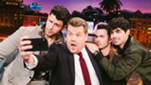 Jonas Brothers Continue 'Late Late Show' Takeover With Lie Detector Test and 'Carpool Karaoke'   Billboard News