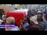 صدى البلد | تشييع جنازة نائب مأمور قسم شرطة القسيمة بالدقهلية