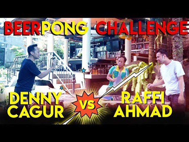 RAFFI AHMAD - Beerpong Challenge